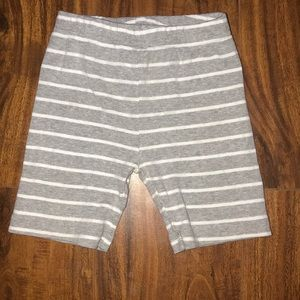 Carter's gray and white striped shorts! Size: 2T